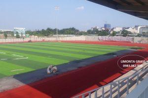 Thi công sân bóng đá, đường chạy điền kinh, khán đài tại Đông Triều Quảng Ninh
